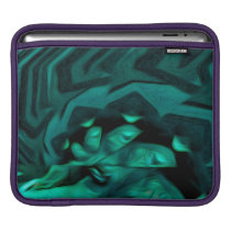 Abstract Pattern Green Sleeve For iPads
