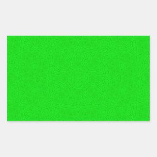 Abstract Pattern green Rectangular Sticker
