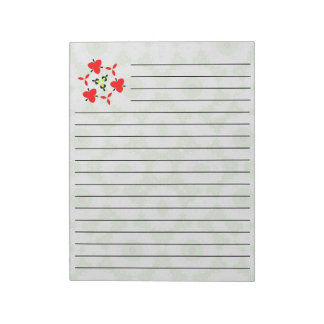 Abstract Pattern green unique pattern Notepad