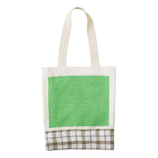 Abstract Pattern green Zazzle HEART Tote Bag