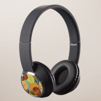 Abstract pattern headphones