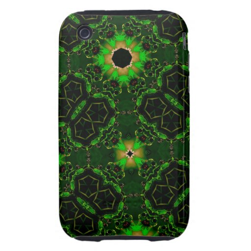 Abstract Pattern Hexagon Kaleidoscope Tough iPhone 3 Case