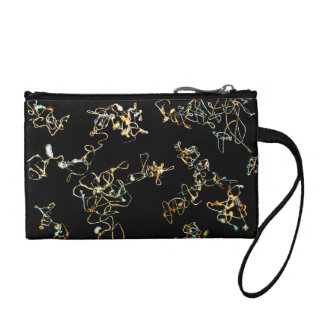 Abstract Pattern in Black and Gold Color. Coin Purse