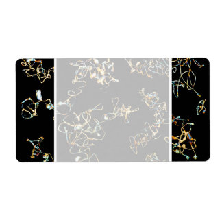 Abstract Pattern in Black and Gold Color. Label