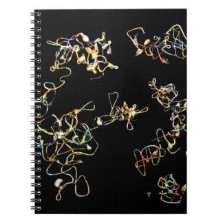 Abstract Pattern in Black and Gold Color. Note Books