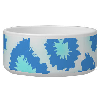 Abstract Pattern in Blue and Turquoise. Bowl