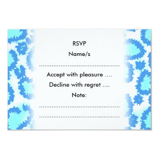 Abstract Pattern in Blue and Turquoise. Card