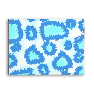 Abstract Pattern in Blue and Turquoise. Envelope