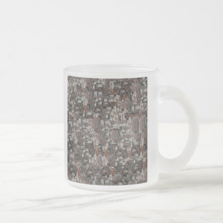 Abstract Pattern in Brown and Gray Mug