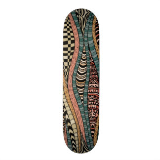 Abstract pattern in ethnic style skateboard