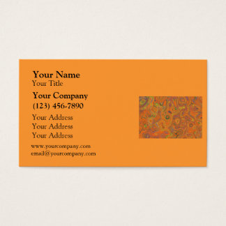 Abstract Pattern in Orange, Purple and Green Swirl Business Card