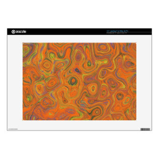 Abstract Pattern in Orange, Purple and Green Swirl Laptop Skins
