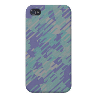 Abstract Pattern in Purple, Green, and Khaki Cover For iPhone 4