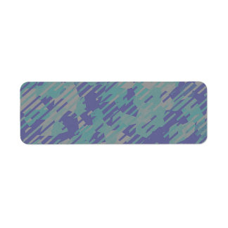 Abstract Pattern in Purple, Green, and Khaki Label