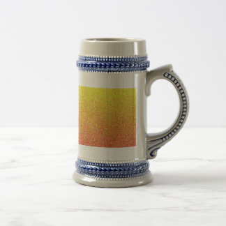 Abstract pattern in red and yellow 18 oz beer stein