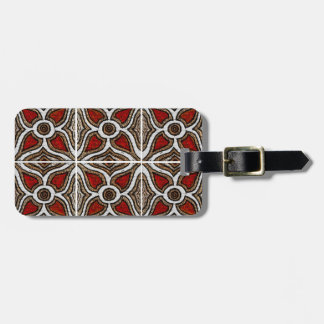 Abstract Pattern Inspired by Portuguese Azulejos Tags For Bags