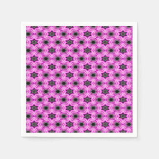Abstract Pattern Lilac And Dark Gray Background Napkin