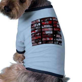 Abstract pattern made of camouflage in red hue pet clothes