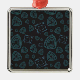 Abstract pattern metal ornament