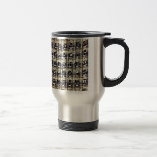 abstract pattern 15 oz stainless steel travel mug