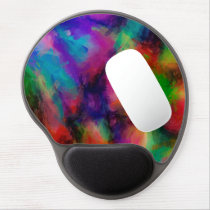 Abstract Pattern Multi Color Background Gel Mouse Pad