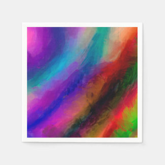Abstract Pattern Multi Colors Bright Paper Napkin