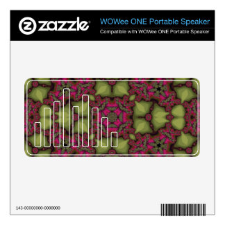 Abstract Pattern multicolored Decals For WOWee Speakers