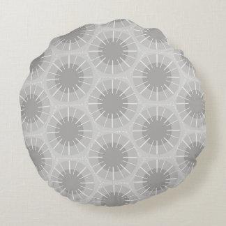Abstract Pattern of a Michigan Petoskey Stone Round Pillow