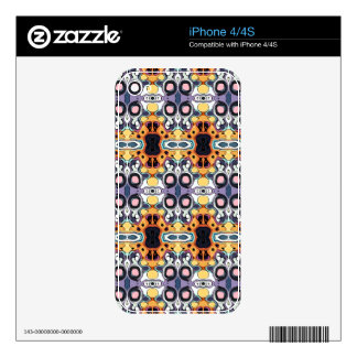 Abstract Pattern of Colors Skins For iPhone 4S