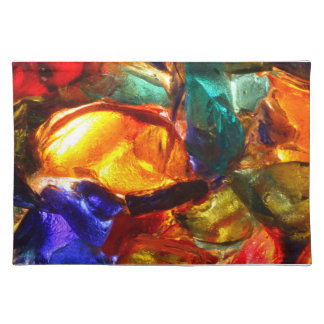 Abstract pattern of stained glass placemat
