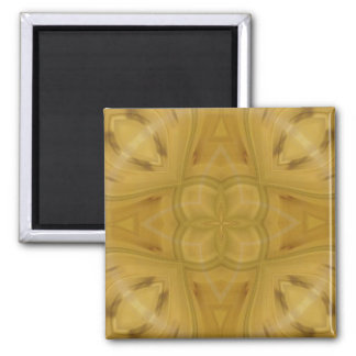 Abstract pattern of wood 2 inch square magnet