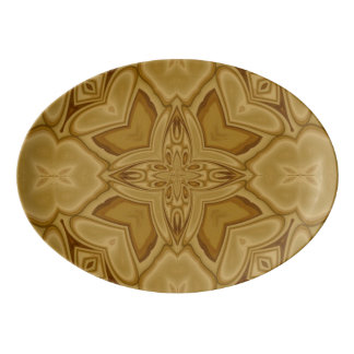 Abstract Pattern of Wood Porcelain Serving Platter