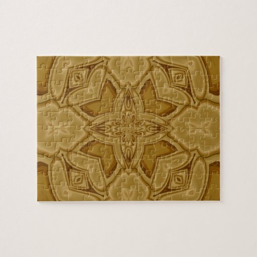Abstract pattern of wood puzzle