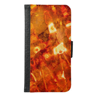 Abstract Pattern Orange Light Effect Samsung Galaxy S6 Wallet Case