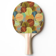 Abstract pattern ping pong paddle