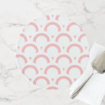 Abstract  pattern - pink and white. cake stand