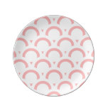 Abstract  pattern - pink and white. dinner plate
