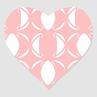 Abstract pattern - pink and white. heart sticker