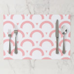Abstract  pattern - pink and white. paper placemat