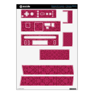 Abstract Pattern Pink Decal For Nintendo Wii