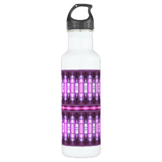 abstract pattern pink tube 24oz water bottle