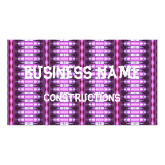 abstract pattern pink tube Double-Sided standard business cards (Pack of 100)