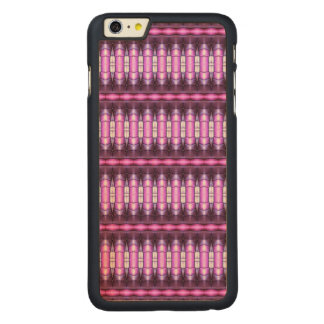 abstract pattern pink tube carved® maple iPhone 6 plus case