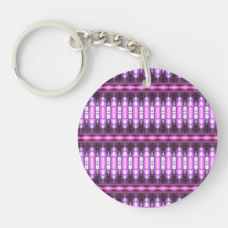 abstract pattern pink tube keychain