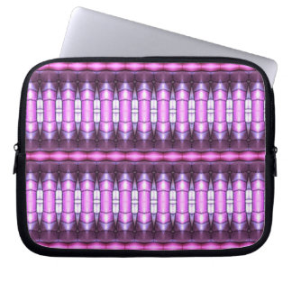abstract pattern pink tube laptop sleeve