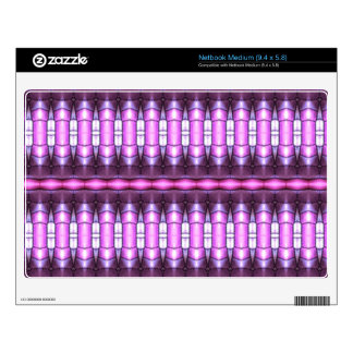 abstract pattern pink tube netbook skins