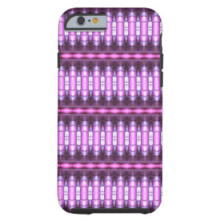 abstract pattern pink tube tough iPhone 6 case