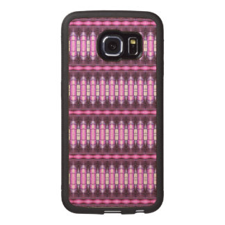 abstract pattern pink tube wood phone case