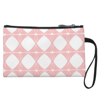 Abstract pattern - pink. wristlet wallet