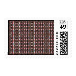 abstract pattern postage stamps